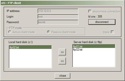Network simulator : tutorial, Application mode, FTP client and server